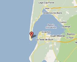 seaside map Lège-Cap-Ferret