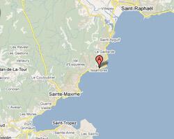 carte littoral Les Issambres