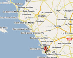 seaside map Les Sables-d'Olonne