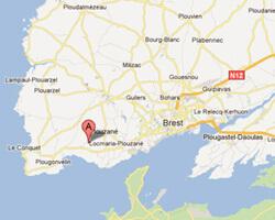 carte littoral locmaria_plouzane