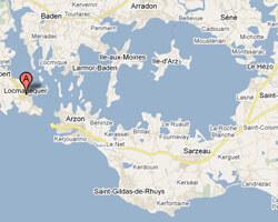 carte littoral locmariaquer