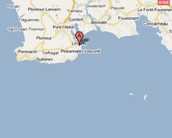 carte littoral loctudy