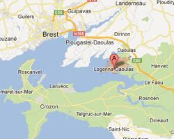 carte littoral Logonna-Daoulas