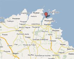 carte littoral Loguivy-de-la-Mer / Ploubazlanec