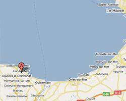 seaside map Luc-sur-Mer