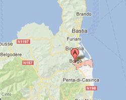seaside map Lucciana