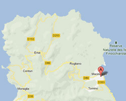 carte littoral Macinaggio