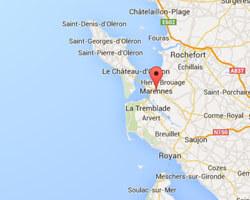 carte littoral Marennes