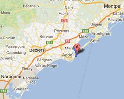 carte littoral Marseillan-Plage