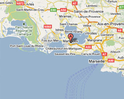 seaside map Martigues