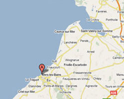 carte littoral Mers-les-Bains