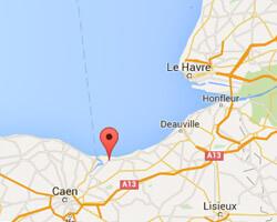 seaside map Merville-Franceville-Plage