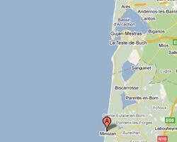 carte littoral Mimizan-Plage