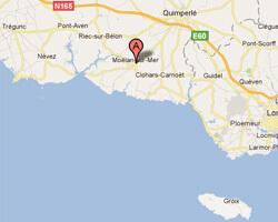 seaside map Moëlan-sur-Mer