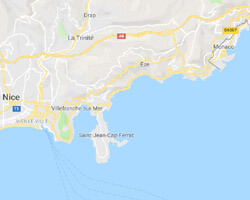 carte littoral Monaco