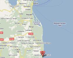 seaside map Moriani-Plage