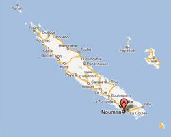 carte littoral Nouméa