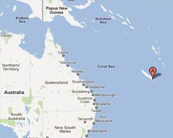 carte littoral Nouvelle-Calédonie