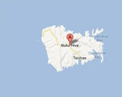 carte littoral Nuku Hiva