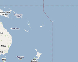 kuste am meer Pazifik