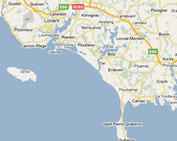 seaside map Country of Lorient