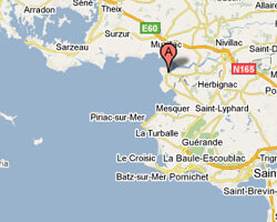 carte littoral Pénestin