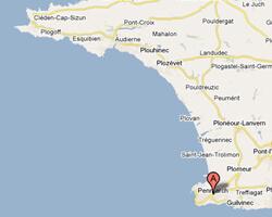 carte littoral penmarch