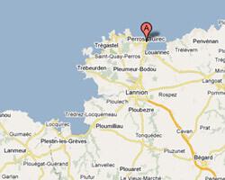 seaside map Perros-Guirec
