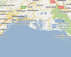 seaside map Petite Camargue