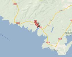 seaside map Pianottoli