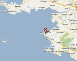 seaside map Piriac-sur-Mer