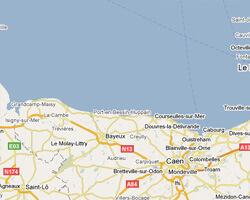 carte littoral Plages du Débarquement