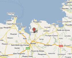 seaside map Plouezoch