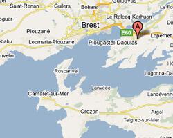 seaside map Plougastel-Daoulas