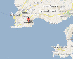 carte littoral Plougonvelin