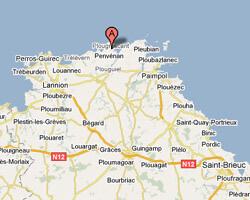seaside map Plougrescant