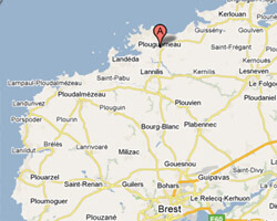 carte littoral Plouguerneau