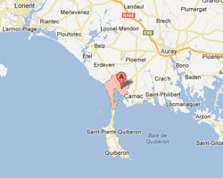 seaside map Plouharnel