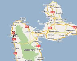 seaside map Pointe-Noire