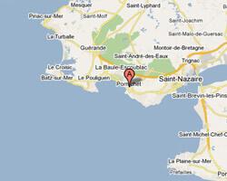 seaside map Pornichet