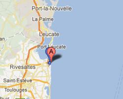 seaside map Port-Barcarès