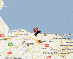 seaside map Port-en-Bessin-Huppain