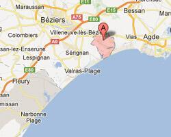 seaside map Portiragnes-Plage