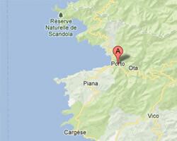 carte littoral Porto-Ota