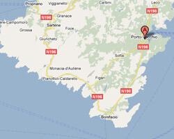 carte littoral Porto-Vecchio