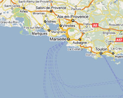 seaside map Provence