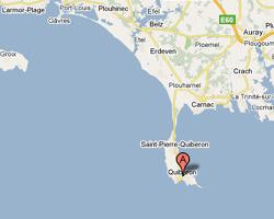 carte littoral Quiberon