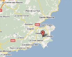 carte littoral Ramatuelle