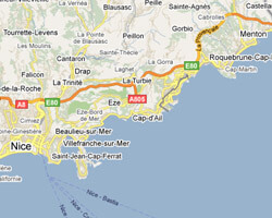 seaside map French Riviera