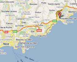 seaside map Roquebrune-Cap-Martin